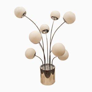 Tischlampe aus Glas & Stahl von Pia Guidetti Crippa für Lumi, 1970er