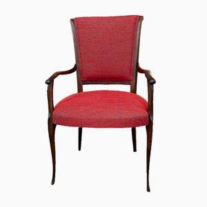 Italienische Esszimmerstühle aus Holz, 1950er, 2er Set