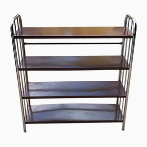 Bücherregal aus Metall im Bauhaus Stil, 1920er
