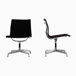 Vintage EA 107 Desk Chairs by Charles & Ray Eames for Herman Miller, Set of 2