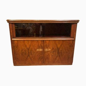 Mid-Century Glass and Wood Sideboard, 1960s