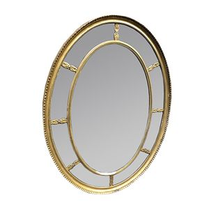 Oval 19th Century English Gilt Mirror
