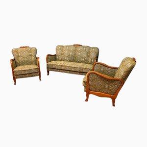 Mid-Century Sofas & 2 Armchairs Set, 1960s