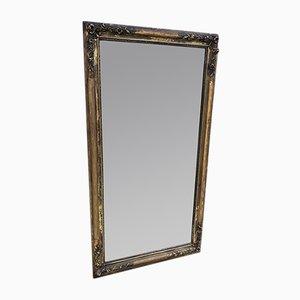 Antiker französischer Spiegel mit Rahmen aus geschnitztem Holz & Gesso im Louis Philippe Stil