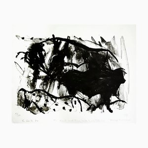 Fighting Bulls Lithograph by Elaine de Kooning, 1984