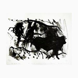 Litografía Fighting Bulls de Elaine de Kooning, 1984