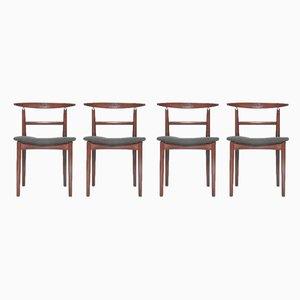 Chaises de Salle à Manger en Tissu et Palissandre par Helge Sibast pour Sibast, Danemark, 1962, Set de 4