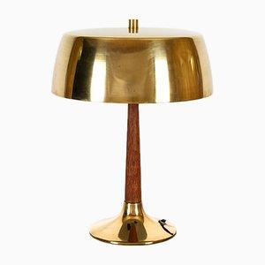 Dänische Tischlampe aus Messing & Teak von Svend Aage Holm Sørensen für Holm Sørensen & Co, 1960er