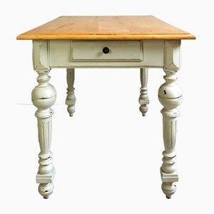 Tavolo da pranzo antico in pioppo, fine XIX secolo
