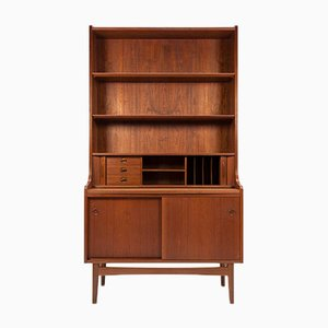 Danish Teak Secretaire by Johannes Sorth for Bornholm, 1960s