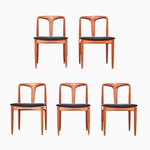 Dänische Esszimmerstühle aus Teak von Johannes Andersen, 1960er, 5er Set