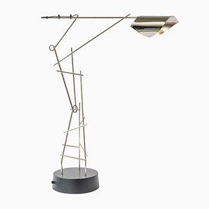 Lampe de Bureau Tinkeringlamps Nickelée par Kiki Van Eijk & Joost Van Bleiswijk
