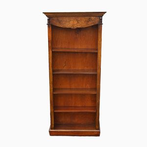Mid-Century Walnut Open Bookcase, 1960s