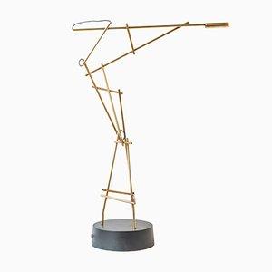 Lampe de Bureau Tinkeringlamps en Laiton par Kiki Van Eijk & Joost Van Bleiswijk