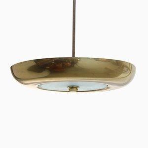 Lampada da soffitto in ottone, anni '70