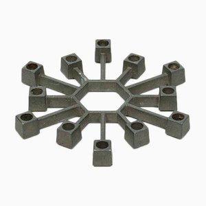 Small Danish Cast Iron Candleholder by Jens Quistgaard for Paro, 1960s