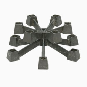 Danish Cast Iron Candleholder by Jens Quistgaard for Paro, 1960s