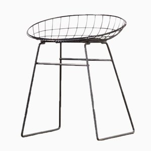 Metal KM05 Wire Stool by Cees Braakman & Adriaan Dekker for Pastoe, 1953