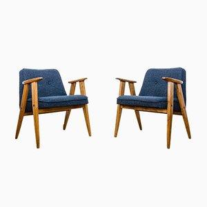 366 Sessel von Józef Chierowski für Świebodzickie Furniture Factories, 1960er, Set of