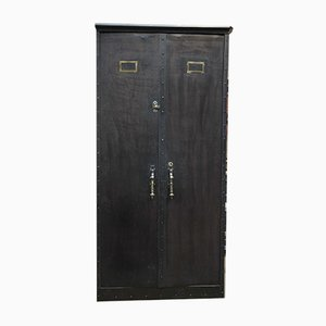 Industrial French Copper and Metal Wardrobe, 1930s