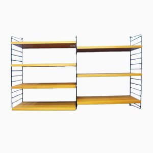 Scandinavian Modern Style Metal & Wood Shelving Unit by Kajsa & Nils Strinning for String, 1960s