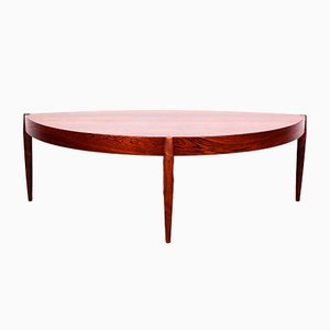 Scandinavian Modern Rosewood Coffee Table by Johannes Andersen for Trensum, 1950s