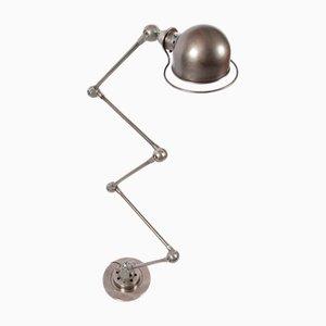 Industrielle französische Stehlampe aus Stahl von Jean-Louis Domecq, 1950er