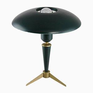 Lámpara de mesa pequeña de metal de Louis Christiaan Kalff para Philips, años 50