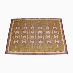 Schwedischer Mid-Century Teppich aus Flachgewebe, 1950er