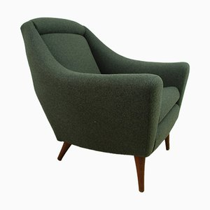 Teak and Wool Armchair from Greaves & Thomas, 1960s