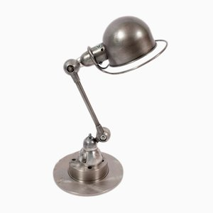 French Steel Table Lamp by Jean-Louis Domecq, 1950s