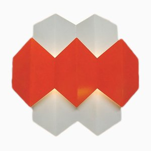 Applique Murale Orange par Bent Karlby pour Lyfa, Danemark, 1960s