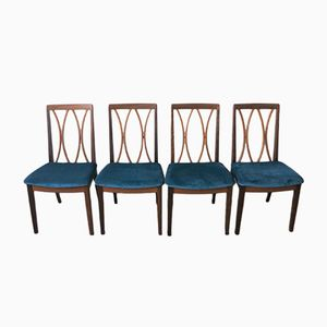 Fabric and Teak Dining Chairs from G-Plan, 1970s, Set of 6