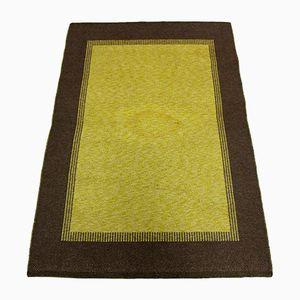 Schwedischer Mid-Century Teppich aus flachgewebter Wolle, 1950er