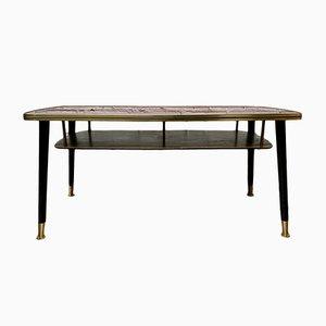 Table Basse Vintage avec Étagère, 1950s