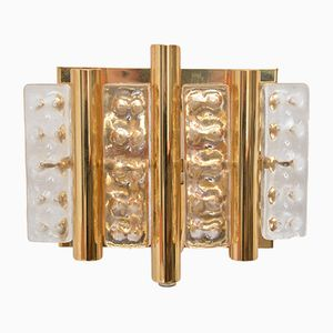 Danish Brass and Glass Sconces by Carl Fagerlund for Lyfa, 1970s, Set of 2