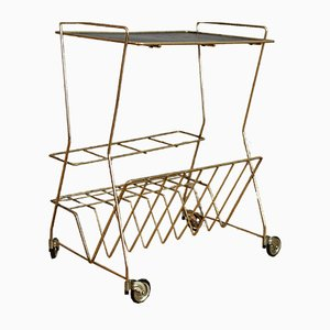 Vintage Space Age Metal Trolley, 1970s