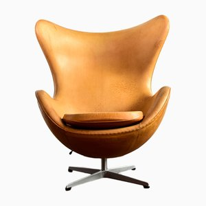 Danish Aniline Leather Lounge Chair by Arne Jacobsen for Fritz Hansen, 1990s