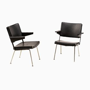 Chrome and Steel Armchairs by André Cordemeyer for Gispen, 1970s, Set of 2