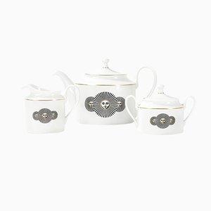 Italian Modern Model Heliada Porcelain Tea Set by Atelier Fornasetti for Rosenthal, 1990s