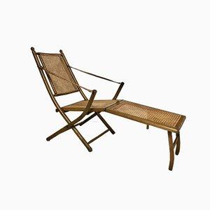 Chaise longue antigua de caña