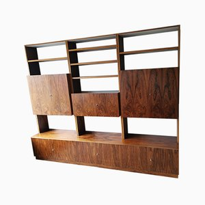 German Rosewood and Compressed Wood Wall Unit, 1960s