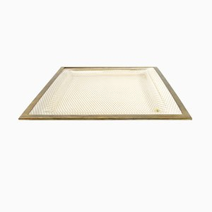Plastic and Brass Trays by Alberto Sordi, 1970s, Set of 2