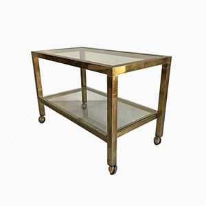 Brass and Glass Trolley, 1980s
