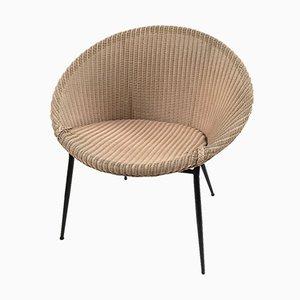 Mid-Century Sessel aus Metall und Korbgeflecht von Lusty Lloyd Loom