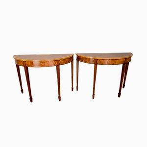 Tables Console Mid-Century en Acajou, 1960s, Set de 2