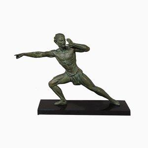 Le Pisteur Skulptur von Jean de Roncourt, 1920er