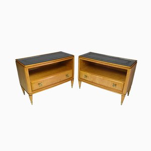 Tables de Chevet Mid-Century en Erable, Italie, 1950s, Set de 2