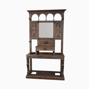 Antique Oak Hall Stand