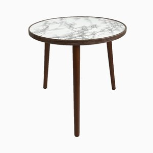Round Mid-Century Marble Effect Coffee Table, 1950s